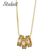Роскошный Золотой геометрической формы круглые начальные ожерелья