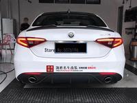 Tronco traseiro De Fibra De Carbono de alta qualidade cor preta spoilers Para Alfa Romeo Giulia 2015 a 2019 asas Spoiler Estilo Quadrifoglio