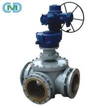 China Wenzhou Carbon Steel Remote Control 3 Way Electric Full Bore Ball Valve