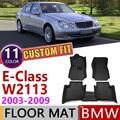 Кожаные автомобильные коврики на заказ для Mercedes Benz E Class W211 2003 ~ 2009 5 мест  коврик для ног  аксессуары для ковров E240 E300 E350 E500
