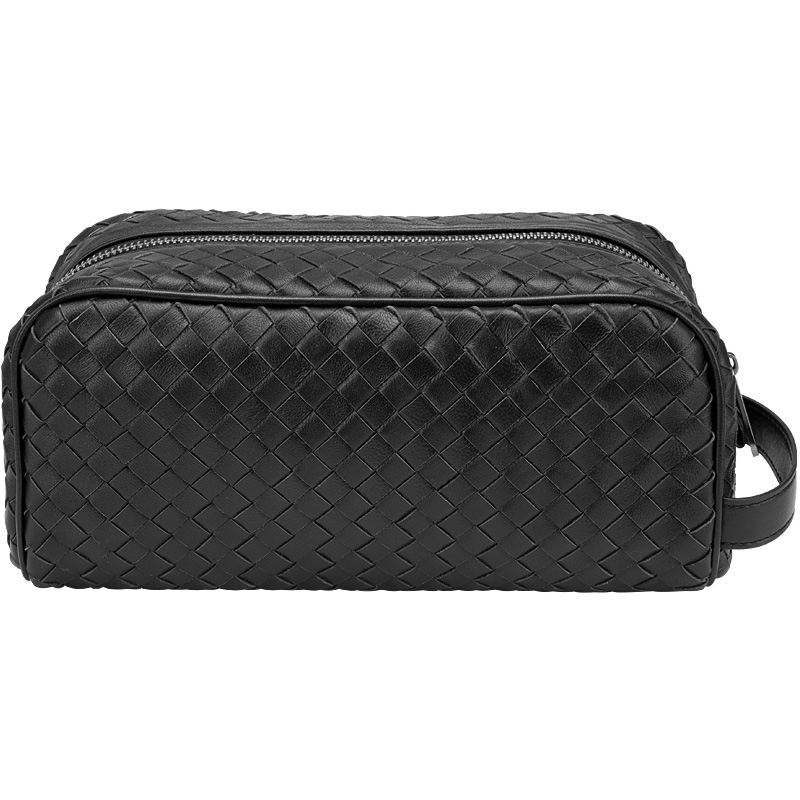 Genuine Leather Woven Men Clutch Bag Large Capacity Zipper Bag Fashion Storage Bag Luxury Brand Handbag 100% Lambskin 2019 New