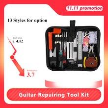 Gitar tamir aracı kiti elektrikli akustik gitar Ukulele tamir bakım temizleme aracı aksesuarları kiti