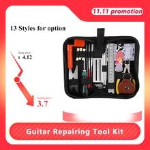 Kit de herramientas de reparación de guitarra eléctrica, guitarra acústica y ukelele, mantenimiento de reparación, Kit de accesorios de limpieza
