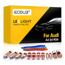 For Audi A4 S4 RS4 B5 B6 B7 B8 LED Interior Light Bulb Kit Dome Map Trunk Indoor Overhead White Canbus Car Interior Replacement