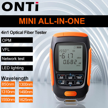 ONTi 4in1 Li-lion Battery Optical Power Meter Visual Fault Locator Network Cable Test Fiber Tester 5km 15km 30km VFL - discount item  50% OFF Communication Equipment