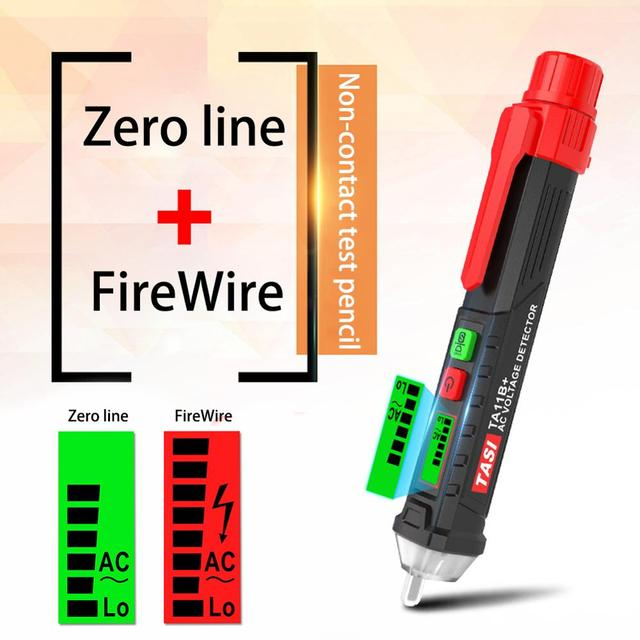 Digital AC/DC Non-Contact Voltage Tester Compact Pen LCD Electric Test Pen Detector 12~1000V