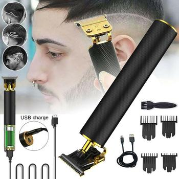2020 Professional Hair Trimmers USB Rechargeable Clipper Barber Trimmer Beard Cutter Haircut for Men Styling Tool - discount item  40% OFF Personal Care Appliances