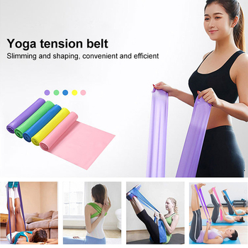 2020 Yoga Tension Band Fitness Equipment Training Resistance Bands Rubber Yoga Fitness Tension  Sport Training Equipment 5