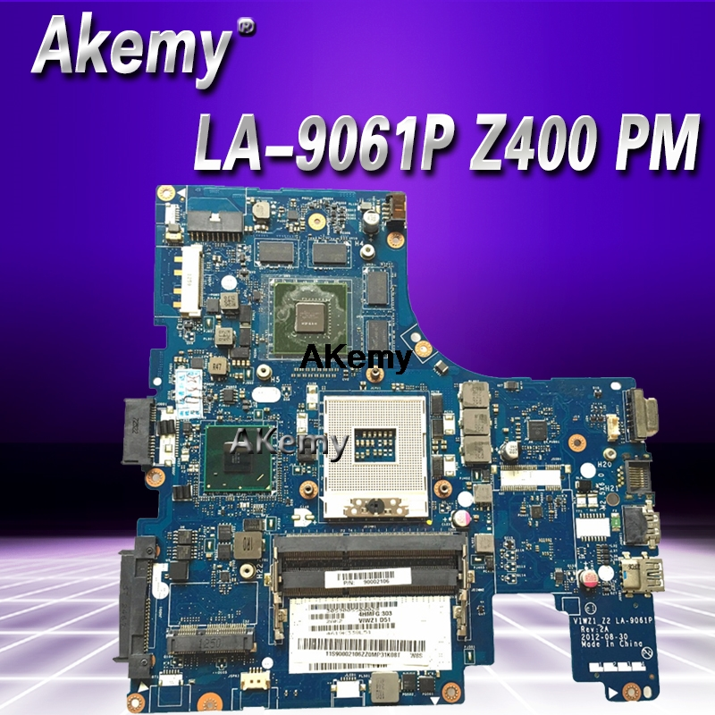 LA-9061P For Lenovo Z400 Laptop Motherboard VIWZI-Z2 LA-9061P Z400 PM Original Motherboard Test Free Shipping