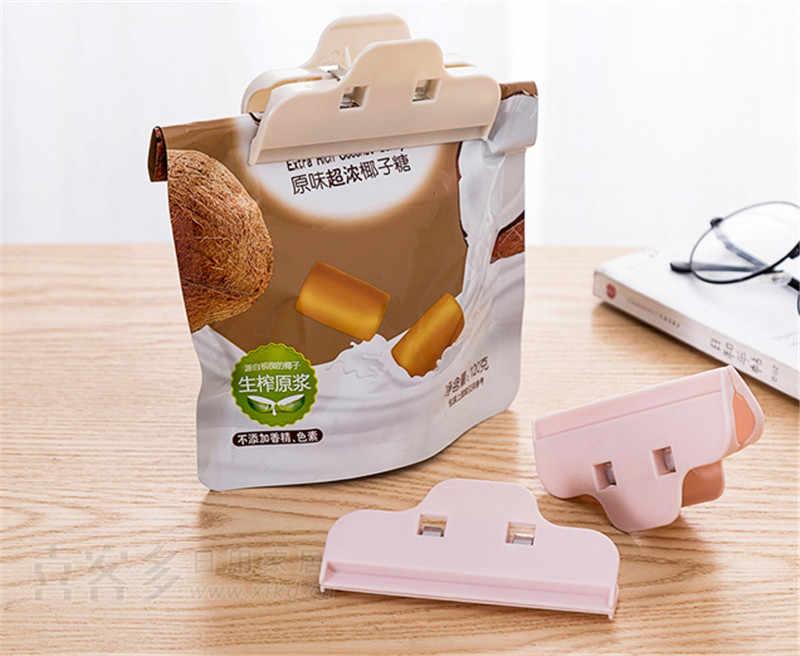 Przenośne plastikowe klipsy uszczelniające kuchnia przekąska uszczelnienie zacisk odporne na wilgoć świeżego utrzymywania Sealer do przechowywania żywności klips do torebek narzędzia kuchenne
