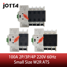 Jotta Mini Size W2R-2P/3P/4P 100A220V Mini ATS Automatic Transfer Switch Electrical Selector Switches Dual Power Switch