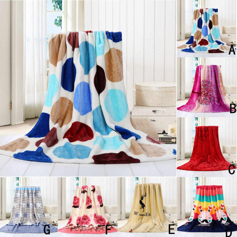 OUNEED Blankets Super Soft Warm Solid Warm Micro Plush Fleece Throw Rug Sofa Bedding Multicolor Office Children Blanket #45