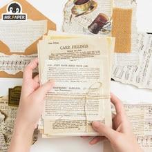 Senhor. papel 2 desenhos 57 peças letras vintage antigas, scrapbooking/cartão/projeto de jornal diy papel de escrita retrô cartões de cartões