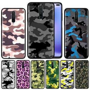 Wzór kamuflażu Camo wojskowa armia obudowa do xiaomi Redmi uwaga 8T 8 7 K20 K30 5G 7s 6 Pro 6A czarny silikonowy telefon ochronny C