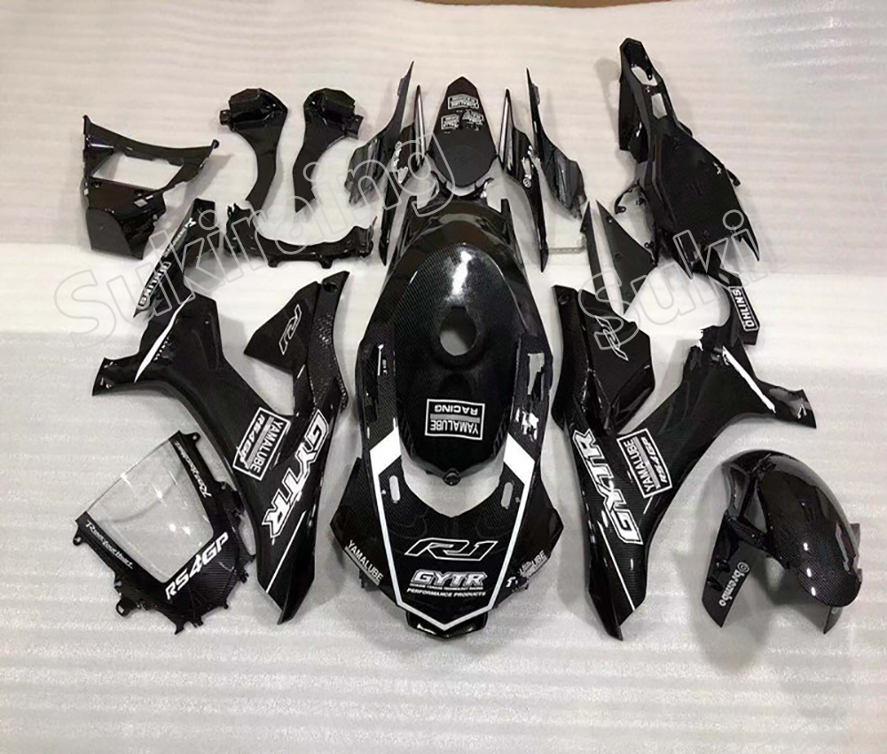 Motorcycle Fairing For YZF-<font><b>R1</b></font> 2015 2016 2017 2018 <font><b>2019</b></font> carbon fiber color Fairing kit bodywork ABS Plastic for YZF <font><b>R1</b></font> 2015-<font><b>2019</b></font> image