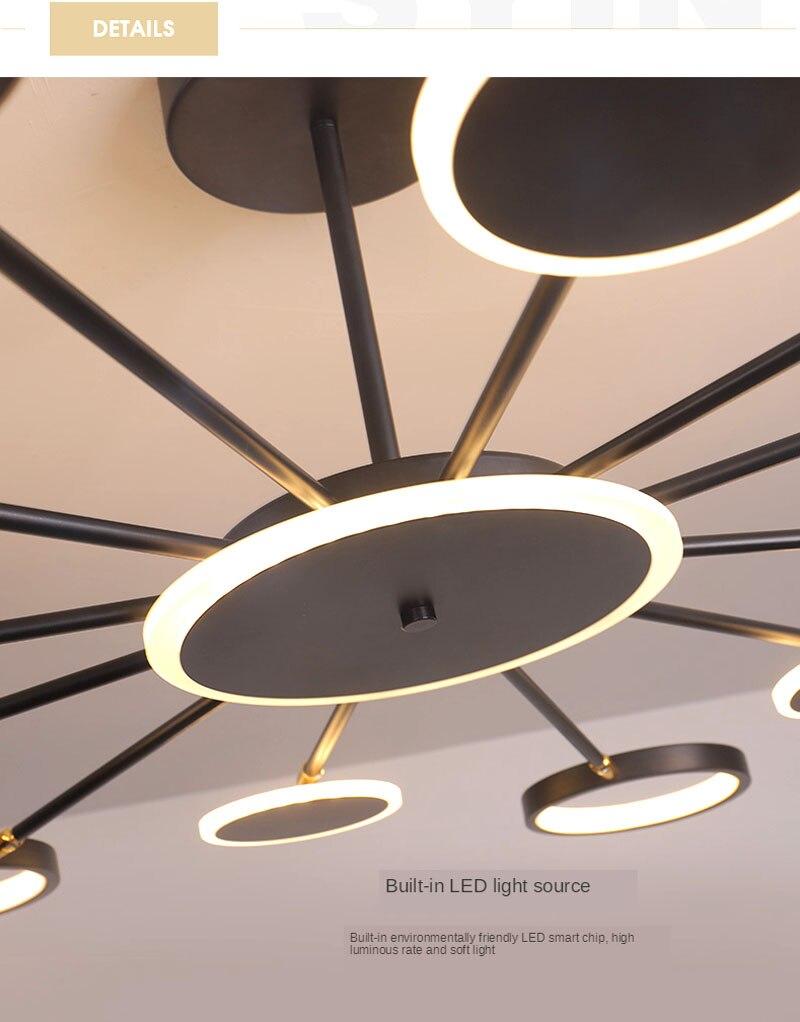 Nordic lustre atmosfera moderna e minimalista lâmpada