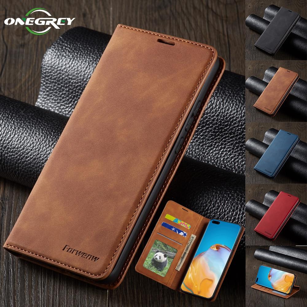 Роскошный флип-кошелек Магнитный чехол для Huawei P40 P30 P20 Mate 30 20 Pro Lite P Smart Plus 2020 2019 кожаные чехлы для телефонов с картой