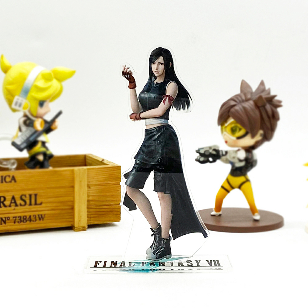 <font><b>Final</b></font> <font><b>Fantasy</b></font> FF VII <font><b>7</b></font> Tifa Lockhart acrylic stand figure model double-side plate holder cake topper anime cool image