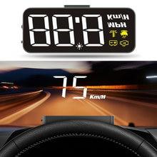 HUD H90 – pare-brise avec écran numérique 3.2 pouces, projecteur de vitesse, alarme de sécurité, température de l'eau, survitesse, Volt