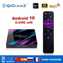 Smart TV BOX H96max Android 10 Google Assistant 4K Dual Wifi BT Media player Play Store App gratuita Set top BOX veloce