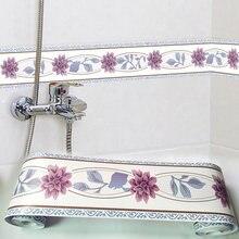 ПВХ Самоклеящиеся обои бордюр плинтус линия для кухни и ванной