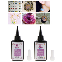 200g Clear Epoxy UV Resin Glue Ultraviolet Cure Gel for Small Silicone Molds DIY Jewelry Making
