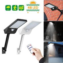 48 LED Remote Control Solar Light LED Outdoor Waterproof PIR Motion Sensor Solar Wall Light 1/3 Mode Garden Street Solar Lamp