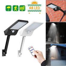 48 LED uzaktan kumanda güneş ışığı LED açık alan su geçirmez projektör PIR hareket sensörü güneş duvar lambası 1/3 mod bahçe sokak güneş lambası