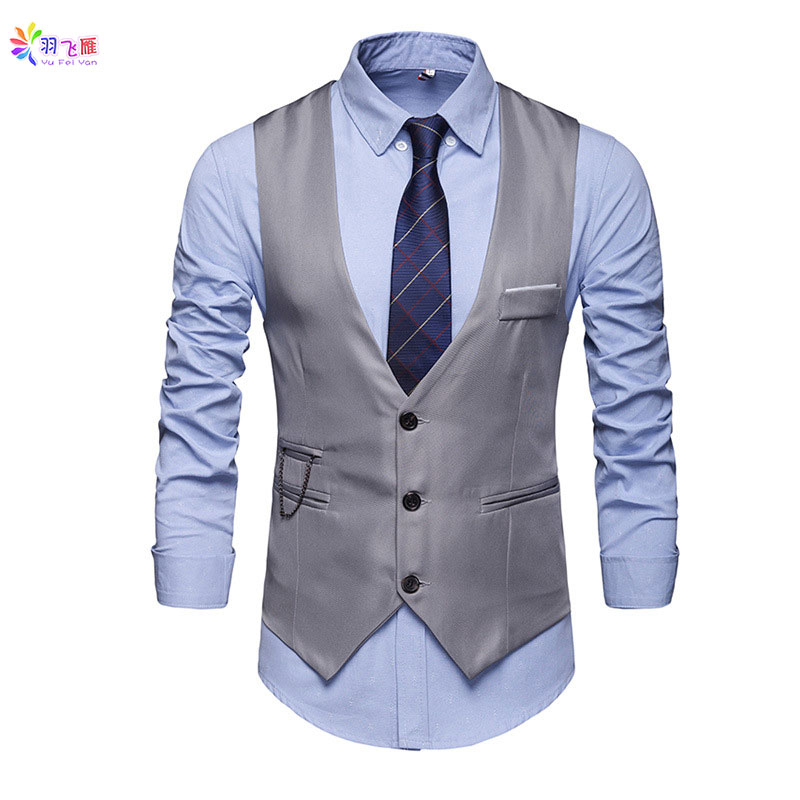 Casual Cotton Mens Sleeveless Vest Suit White Waistcoat Men Suit Vest Slim Fit 5XL Business Party Wedding Men Jacket Vests Gilet