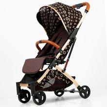5.8Kg Lightweight Strollers Folding Portable Traveling Pram for Newborns Baby Carriage Trolley Hot Mom Pink Stroller Pushchair цена и фото