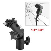 """Универсальный металлический светильник для вспышки с кронштейном и креплением для вспышки Speedlite Umbrella с 1/"""" 3/8"""" винтовым креплением «Горячий башмак»"""