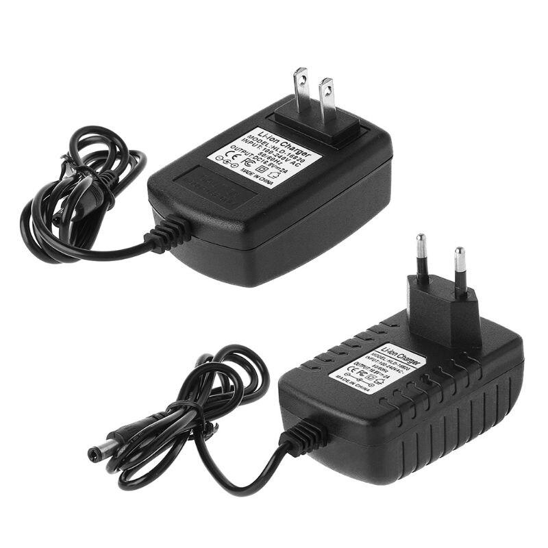 EU/US Plug 4S 16.8V 2A AC Charger For 18650 Lithium Battery 14.4V 4 Series Lithium Li-ion Battery Wall Charger 110V-245V