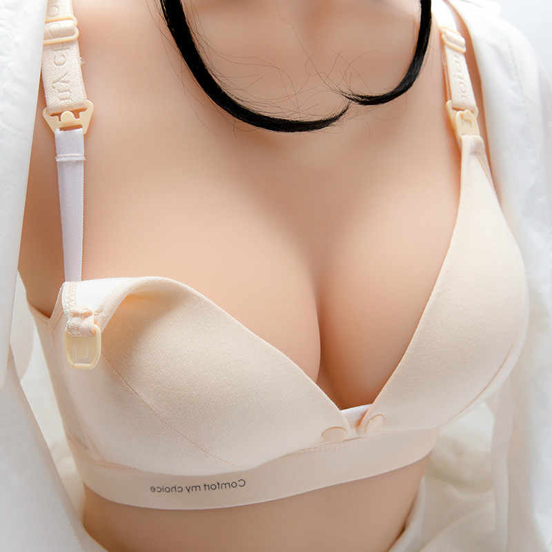 Maternity Nursing Bras Pregnant Women Lingerie Breastfeeding Hot No Rims Front Closure Breast Feeding Bras Large Size Brassiere