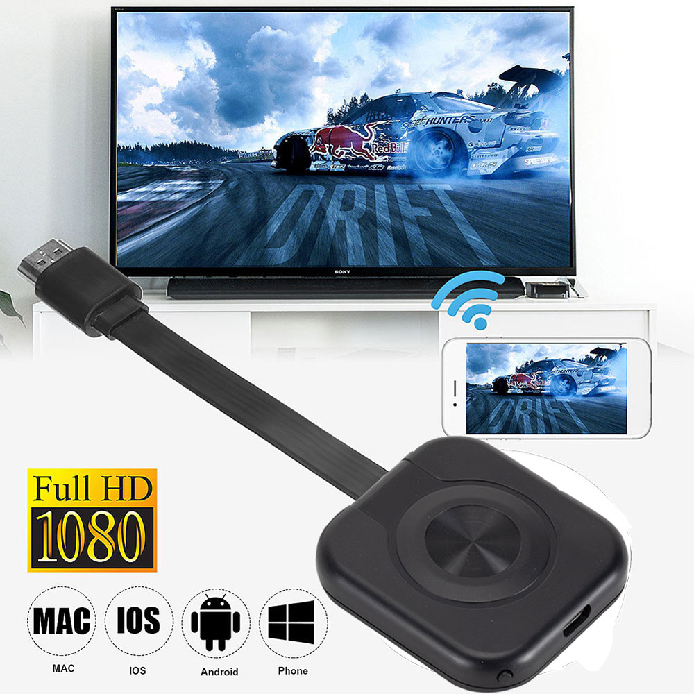 Display Dongle Video Adapter Airplay Wireless HDMI-compatible TV Stick for Phone MiraScreen 1080P USB WiFi Display Dongle