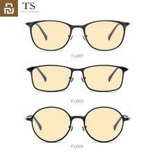 Youpin ts 60% anti azul raios 100% óculos protetores uv protetor de olho para jogos de computador do telefone do jogo tv redonda/quadrado/oval óculos