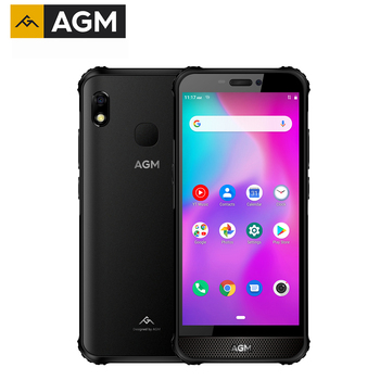"AGM A10 128G Rugged Mobile Phone Android™ 9 Front placed speaker 5.7"" HD 4400mAh IP68 Waterproof Smartphone support SD Card"