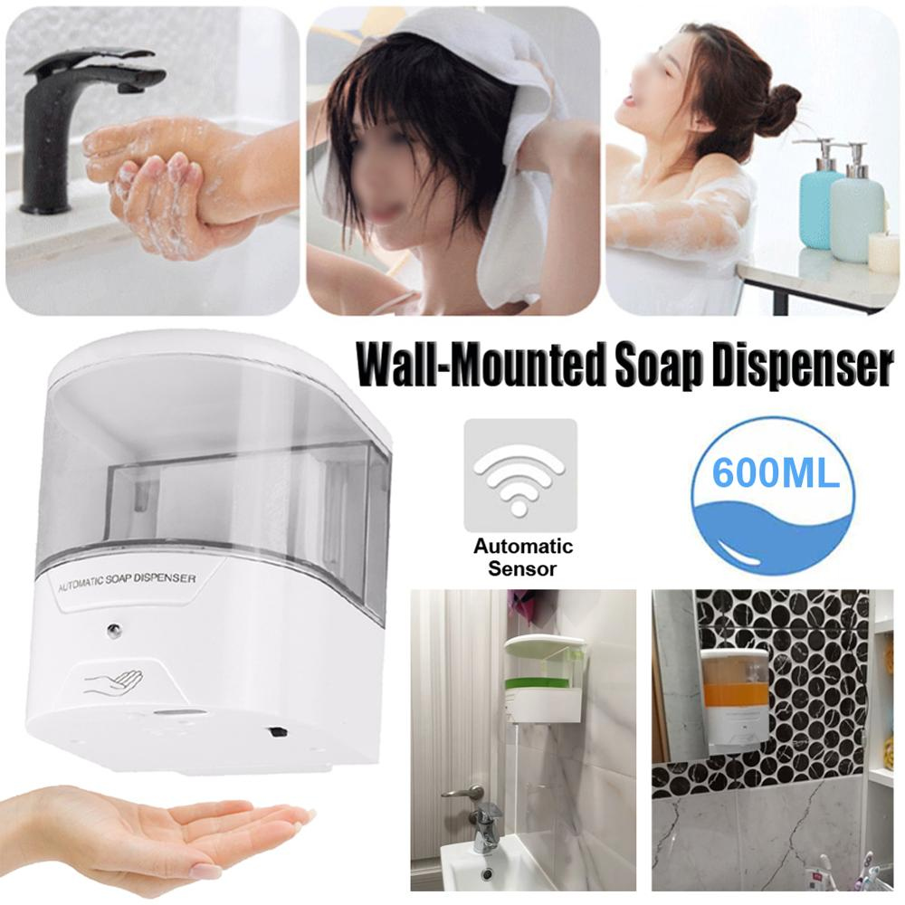 Soap Wall Dispenser Automatic Sensor 600ml IR Mount Mounted Liquid Touch Free