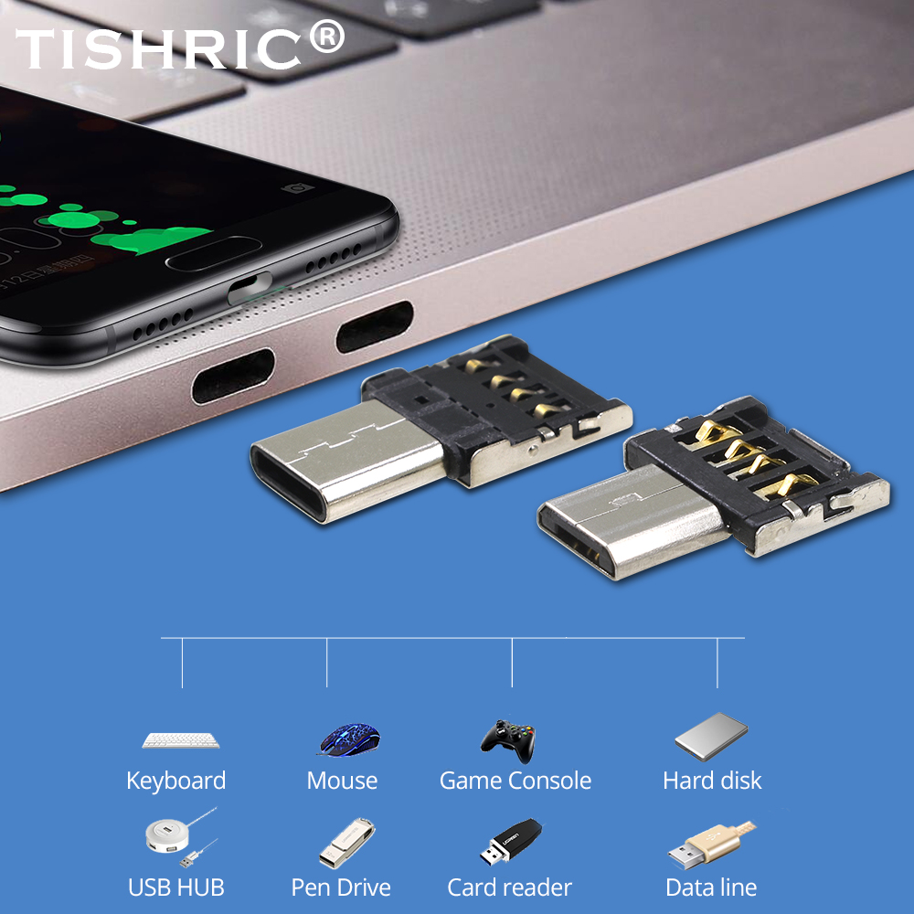 TISHRIC OTG USB 2.0 To Type C Micro USB Adapter USB C Cable Converter For Macbook/Samsung/Huawei/PC/Tablet/Phone Accessories OTG
