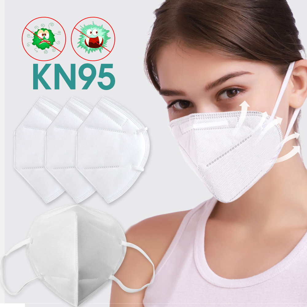 1PCS/Pack KN95 Mask 3D Mask 3-Layer Protection AntiVirus Skin-Friendly Fabric Anti-Dust PM2.5 Breathable Earloop Mask