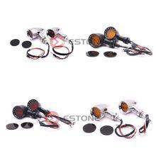 Retro Motorcycle LED Turn Signals Brake Running Tail Light стоимость