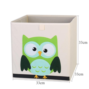 Image 5 - Nouveau 3D Cartoon Animal jouet boîte de rangement pliant bacs de rangement armoire tiroir organisateur vêtements panier de rangement enfants jouets organisateur