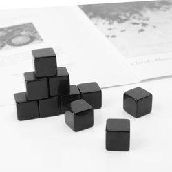 10 pçs 16mm dados em branco preto acrílico cubo jogo de tabuleiro brinquedo do miúdo diy diversão e ensino e56d