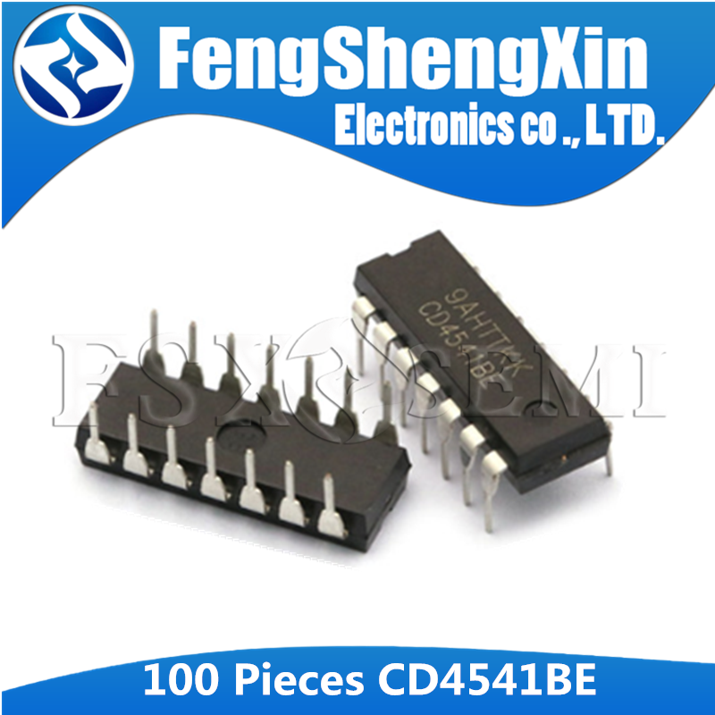 100pcs/lot <font><b>CD4541BE</b></font> DIP-14 CD4541 Programmable timer IC image