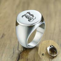 Men Signet Ring Ashes Keepsake Cremation Stainless Steel Memorial Urn Rings Personalized Custom Jewelry