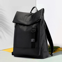 High Capacity Oxford Cloth Business Laptop Backpack Roomy Anti-theft Comfortable Business Men And Leisure Women Backpack Black leisure men s backpack with double buckle and black color design