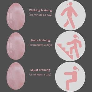 Image 3 - Rose Quartz Yoni Egg Set Vaginal Tightening Love Egg Kegel Exerciser Natural Stone Crystal Yoni Wand Feminine Hygiene kegel ball