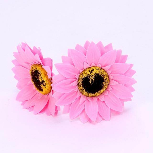5PCS Eternal Flower Sunflower Flower Head Soap Flower Flower Shop Decoration Sun Flower Head Soap 4