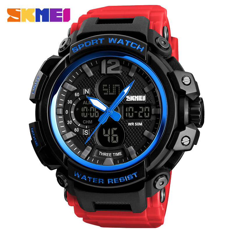 <font><b>SKMEI</b></font> Men Watch 50M Waterproof Digital Fashion Watches Outdoor Sport Men Wristwatches Erkek Saat Fashion Clock Relogio Masculino image