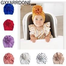 Beanie Hat Turban-Hat Flower-Hats Soft-Caps Baby Fabric Bloom Newborn Toddler Print Gifts