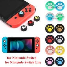 IVYUEEN 4 pcs Silicone Thumb Grips Cover for Nintend Switch NS Lite Joy Con Analog Stick Caps Skin for JoyCon Joystick Grip